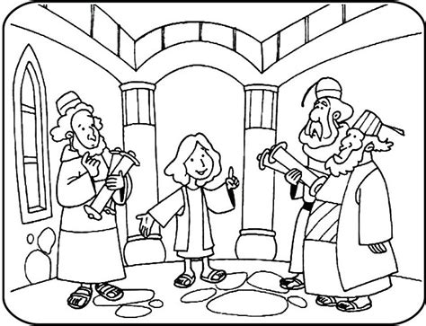 coloring page boy jesus 12 year old jesus in temple coloring google search