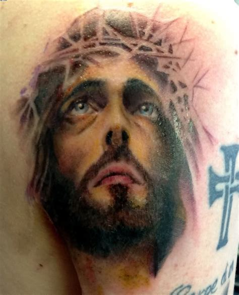 jesus portrait tattoo jesus tattooshunt