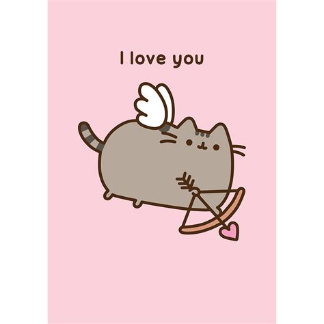 i card pusheen i you card meowco