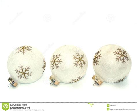 white and gold holiday ornaments stock photos image 5535623