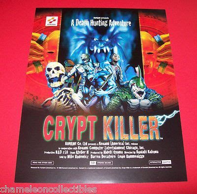 Gamis Promo Sale by On Sale Crypt Killer By Konami 1995 Original Nos