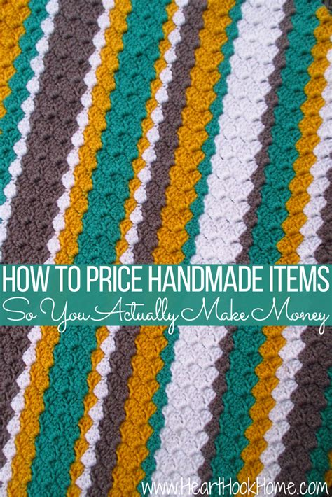 How To Price Your Handmade Items - tips for pricing handmade items to actually make money
