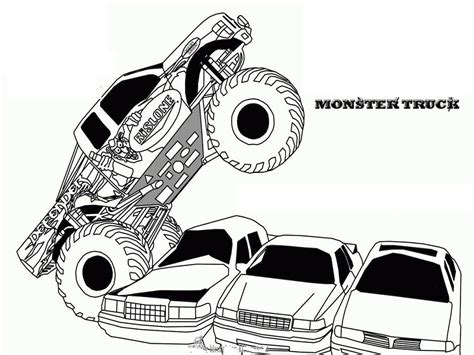 free printable monster jam coloring pages az coloring pages