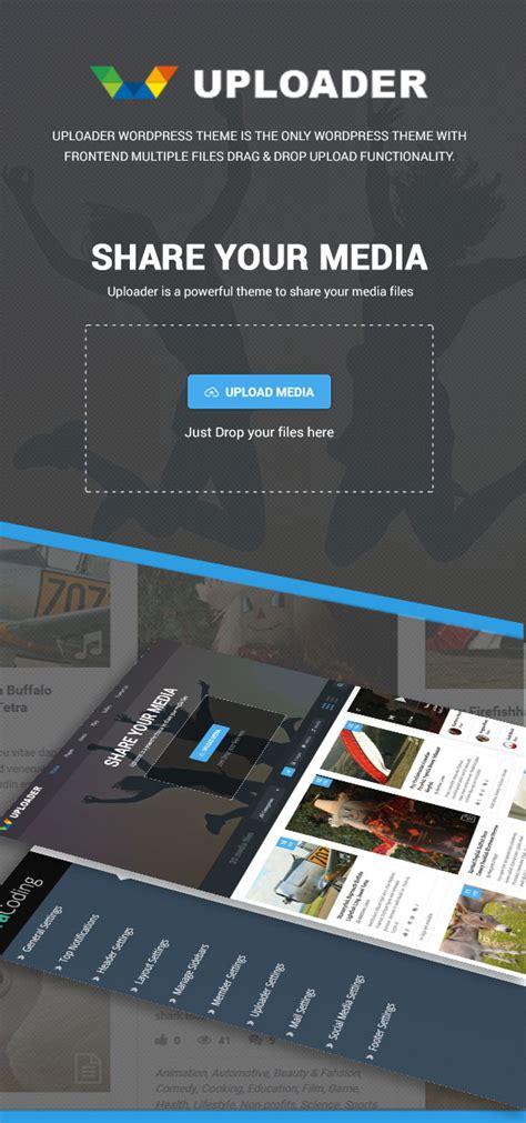 premium html themes download uploader v2 2 1 advanced media sharing wordpress theme