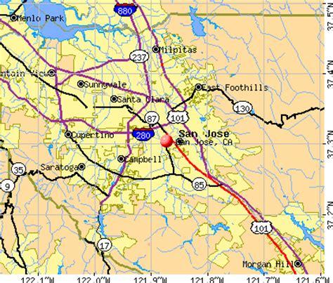 california map showing san jose san jose california ca profile population maps real