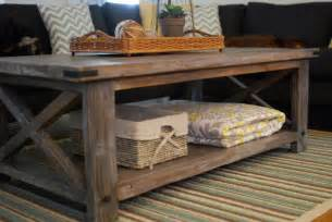 Diy Coffee Tables White Rustic X Coffee Table Diy Projects