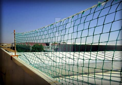 Banister Netting by Certified System Type U Visor Fall Arrest Nets