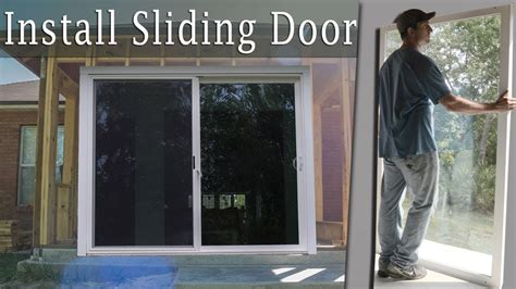 Adding Sliding Doors To A Room - installing a large sliding glass door turn porch into