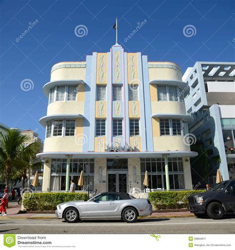 deco style marlin in miami editorial photo