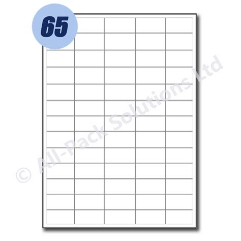 28 label template 65 per sheet label template 65 per
