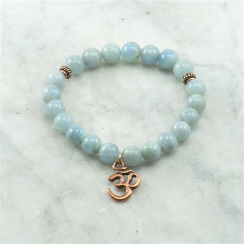 sea bead bracelets sea mala bead bracelet 21 aquamarine mala