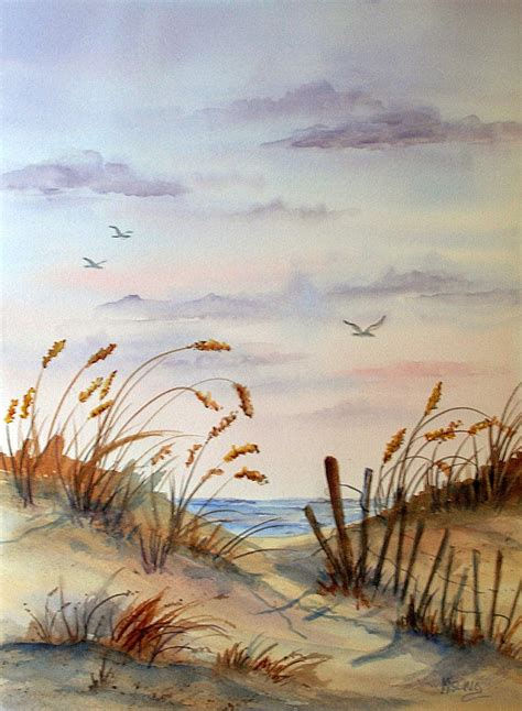 painting the sea people and birds with watercolor basics watercolor of beach seascape birds flying by colorado artist