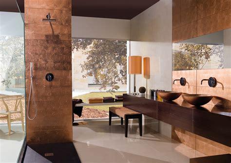 copper bathroom tiles latest tile finishes concept design