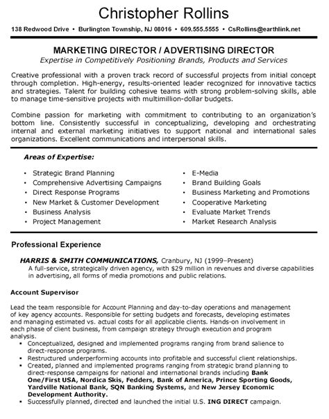 resume for supervisor position sle 100 advertising sales director resume creative 100