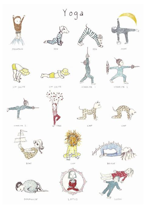 printable yoga poses for toddlers last one in may friday list yoga poses yoga and pose