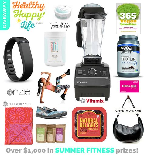 Fitness Giveaways - big summer fitness giveaway