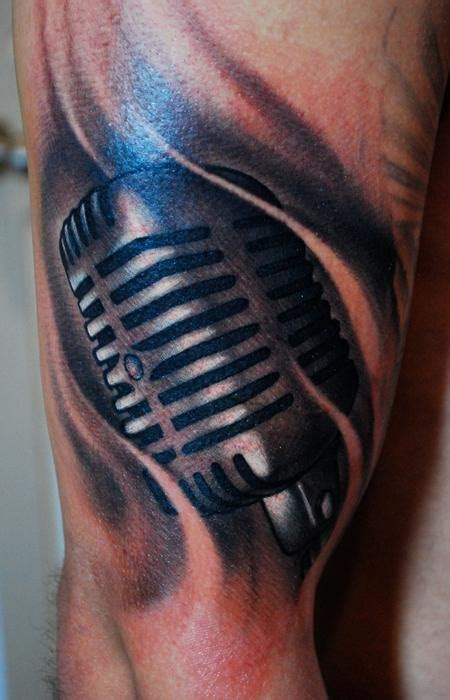 microphone tattoo designs for men microphone tattoos designs ideas and meaning tattoos