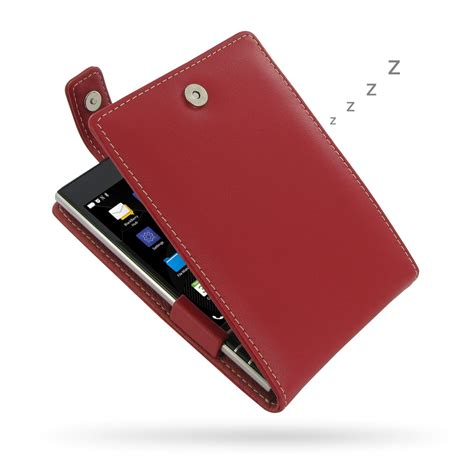 Original Genuine Leather Casing Kulit Flip Cover Blackberry blackberry passport leather flip top pdair sleeve pouch