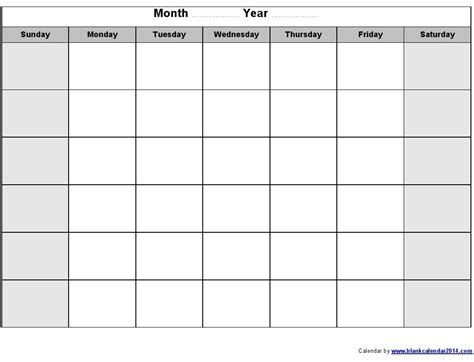 monthly one to one template printable calendars printable monthly blank calendar helpful blank calendar
