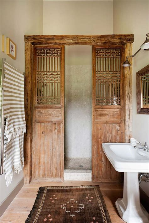 bathroom ideas shower doors wooden doors interior