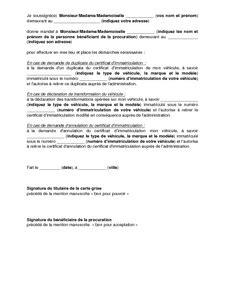 Exemple De Lettre De Procuration Notaire Exemple Lettre De Procuration Notaire