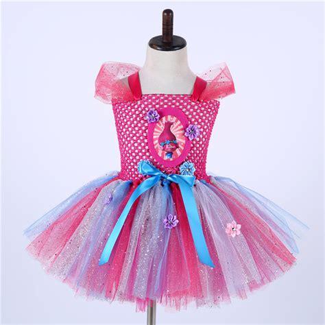 Supplier Popy Dres By Breseis aliexpress buy 2017 troll poppy tutu dress baby tulle princess dress