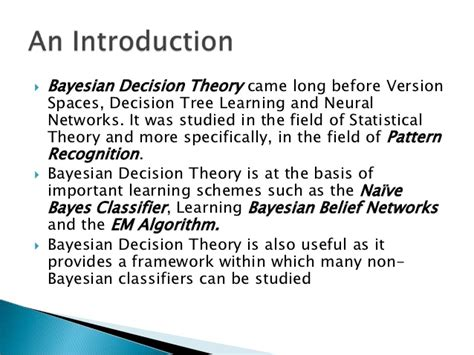 pattern recognition bayesian decision theory bayes learning