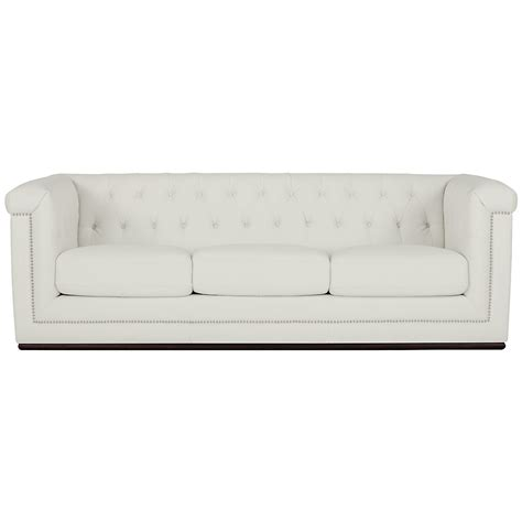 city furniture blair white microfiber sofa