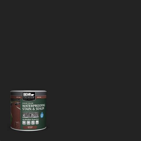 behr solid color waterproofing wood stain behr premium 8 oz sc 102 slate solid color waterproofing