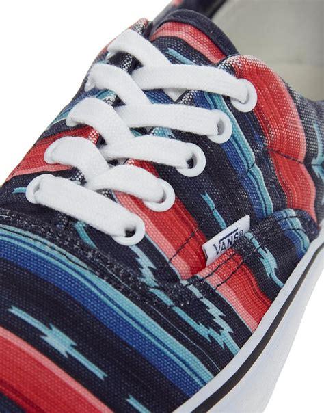 aztec pattern vans shoes vans van doren aztec plimsolls in blue for men lyst
