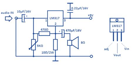 lm317t resistor wattage electronics 1w audio power lifier lm317