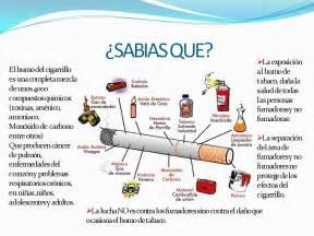 que sustancias tiene el cigarro y sus efectos perjudiciales acerca del cigarrillo y sus componentes namaste