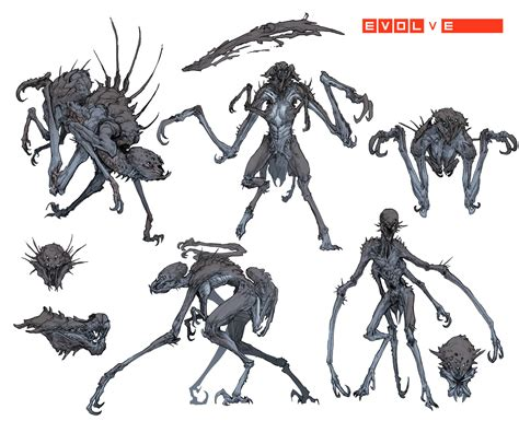 analyzing fallout 4 concept art aliens boss enemies the development of evolve general turtle rock forums