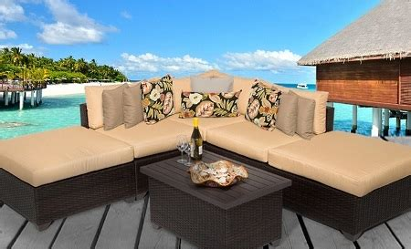 Cabana 6 Piece Outdoor Wicker Patio Furniture Set Cabana Patio Furniture