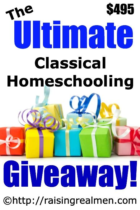 Homeschool Giveaways - big celebration at raising real men