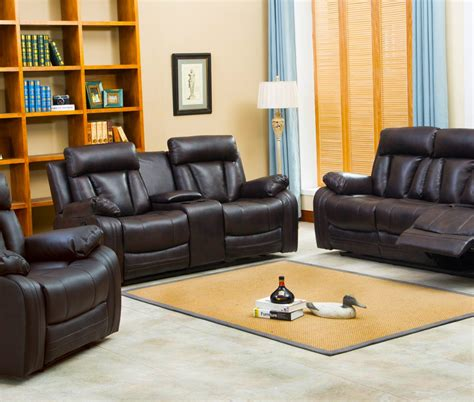 shop living room sets naples reclining sofa loveseat w cupholders and console set furniture distribution center