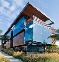 modern wood and glass house in california