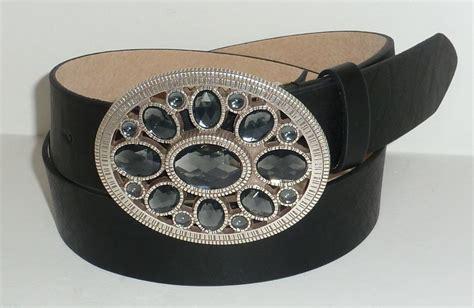 designer brand black leather dress belt with