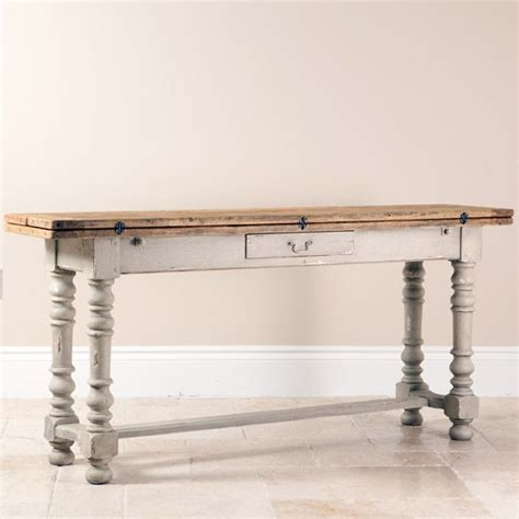 distressed wood sofa table 17 best images about sofa tables on pinterest shabby