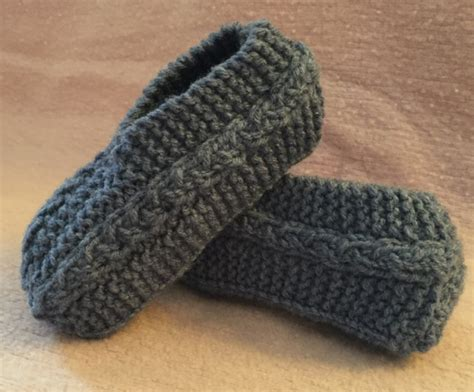 knit slipper cable knit slippers knitting and crochet patterns