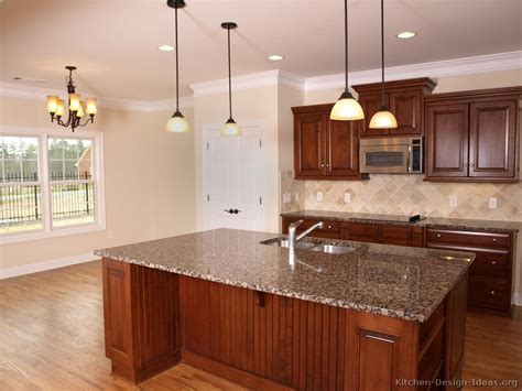 kitchen ideas with cherry cabinets cherry wood kitchen cabinet designs captainwalt com