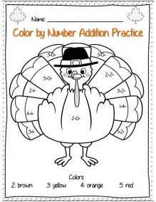 thanksgiving lesson plans 2nd grade thanksgiving addition color by number page part of 22