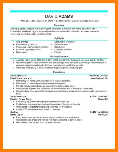 sle resume for sales associate and customer service 9 resume sales associate mla cover page