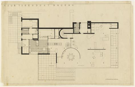 Tugendhat House By Ludwig Mies Van Der Rohe Metalocus Mies Der Rohe House Plans