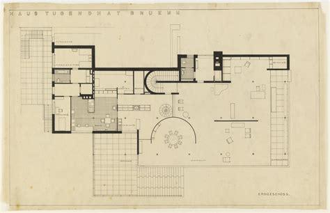villa tugendhat floor plan tugendhat house by ludwig mies van der rohe metalocus