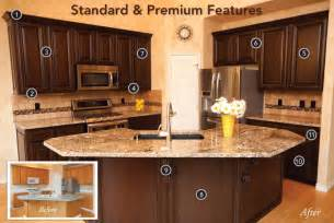 Refaced Kitchen Cabinets Before And After Reface Cabinets Before And After Valentineblog Net