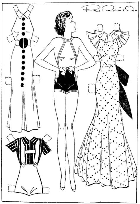 How To Make Cut Out Paper Dolls - etta kett fashions for your paper doll cut outs