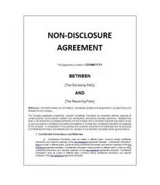 International Non Disclosure Agreement Template non disclosure agreement template standard non disclosure agreement
