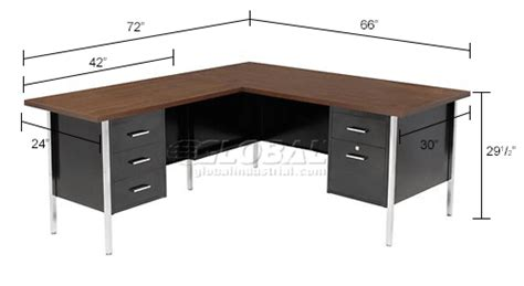 Steel Desk L by Desks Steel Desks Mbi L Desk With Left Return 72
