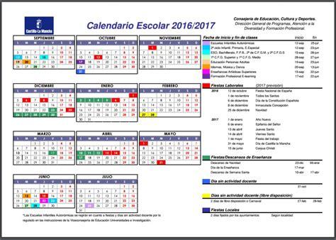 Calendario Yoruba Conoce El Calendario Escolar De Clm Para El Curso 2016